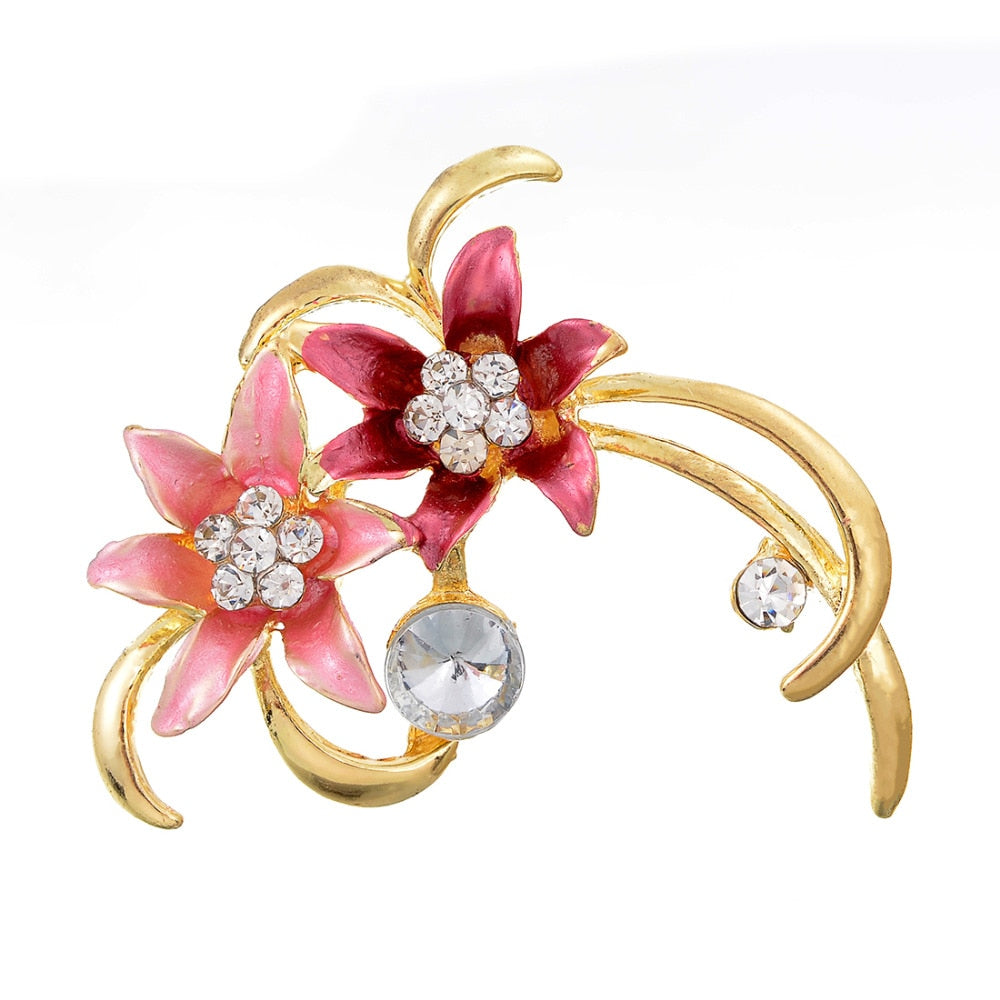 Fashionable Enamel Flower Brooch - get-accessories