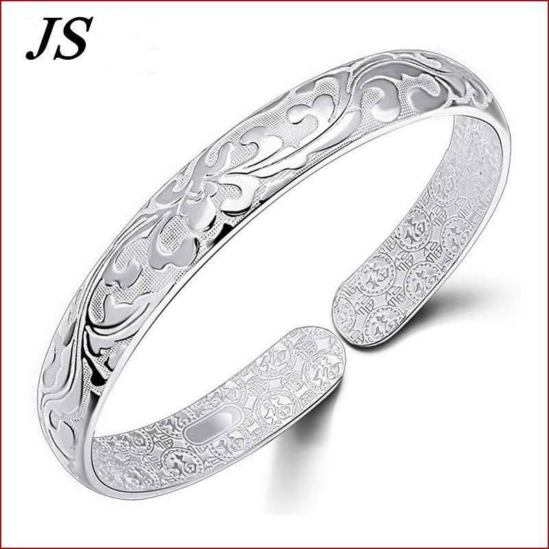 Silver Bracelet Female Charm - get-accessories