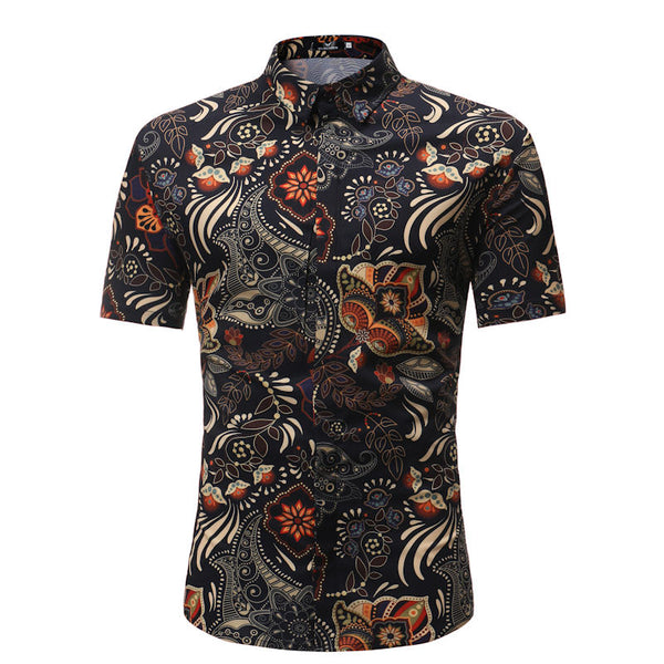 Men Shirt Summer Style Palm - get-accessories