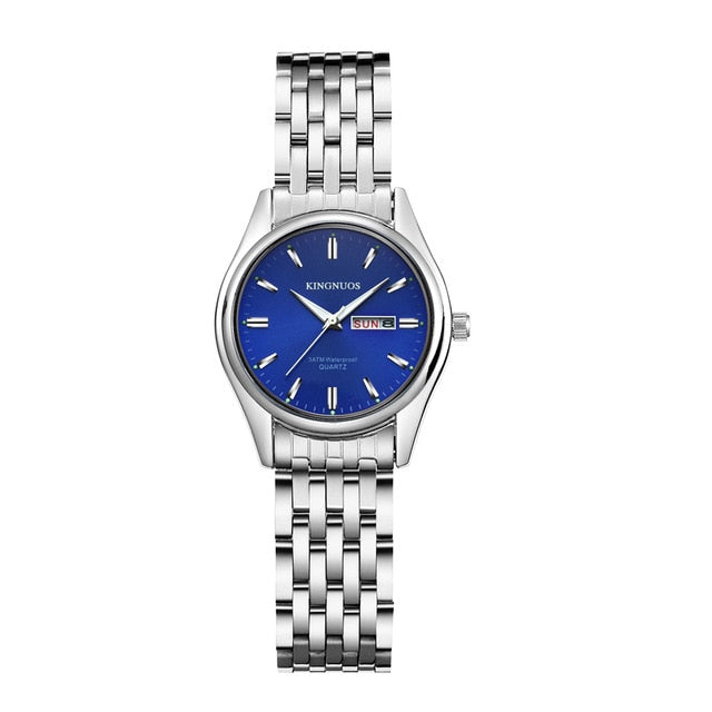 Quartz Wristwatches Luxury Steel Waterproof for Men/Women - get-accessories