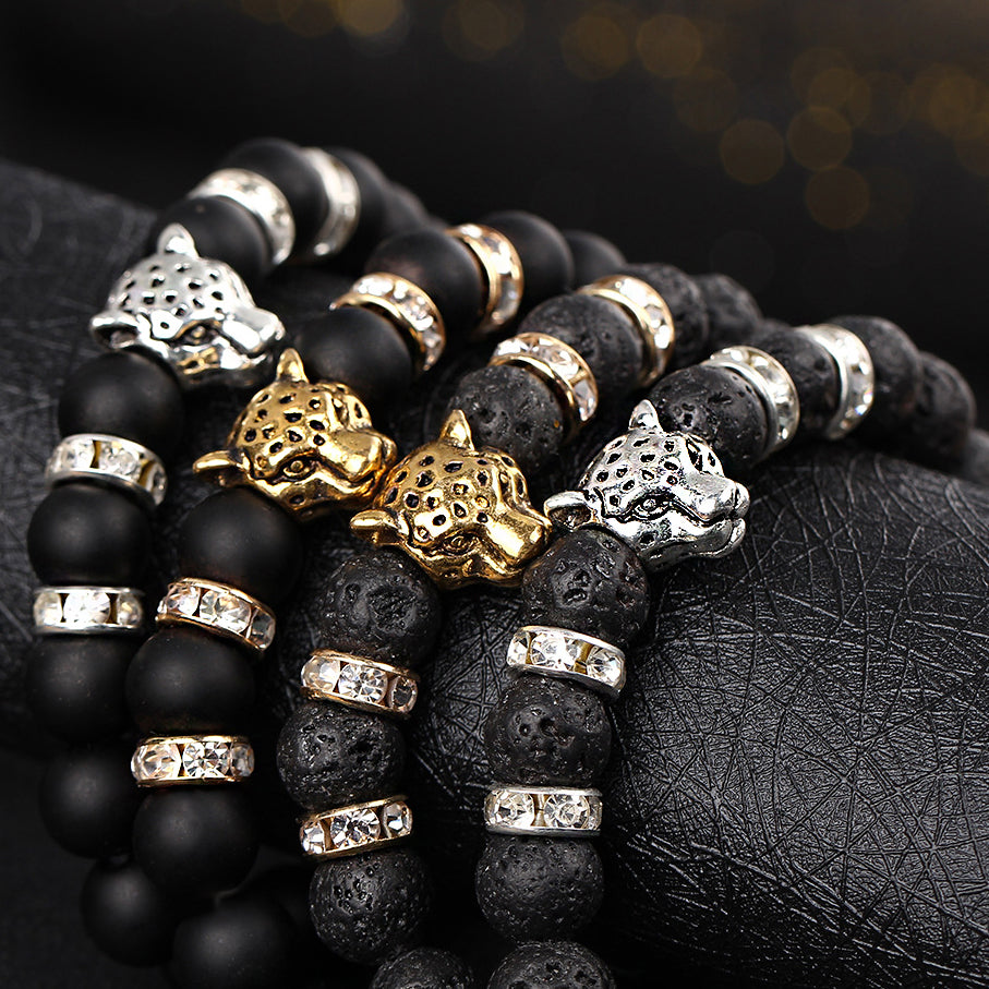 Leopard Head Zircon Bracelets for Men - get-accessories
