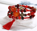 Multilayer Stone Bracelet Vintage Charm Braclet For Women Jewelry - get-accessories