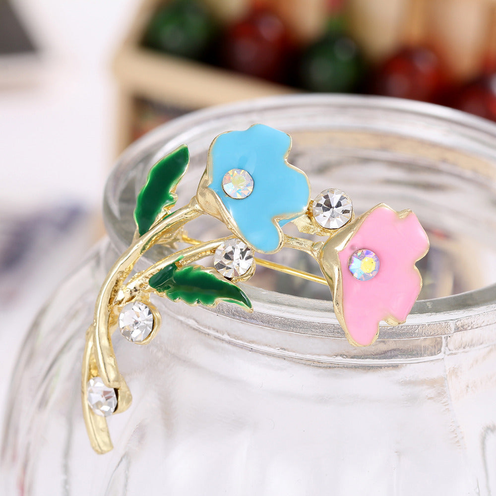 New Style Crystal Leaves Flower - get-accessories