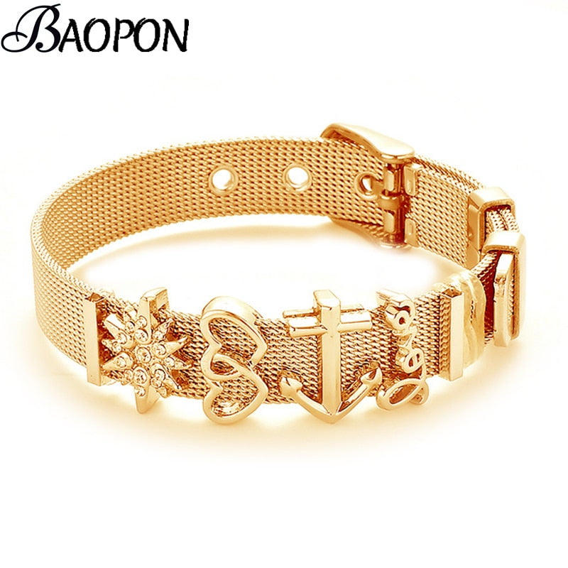 Fashion Stainless Steel Woman and Men Bracelet - get-accessories