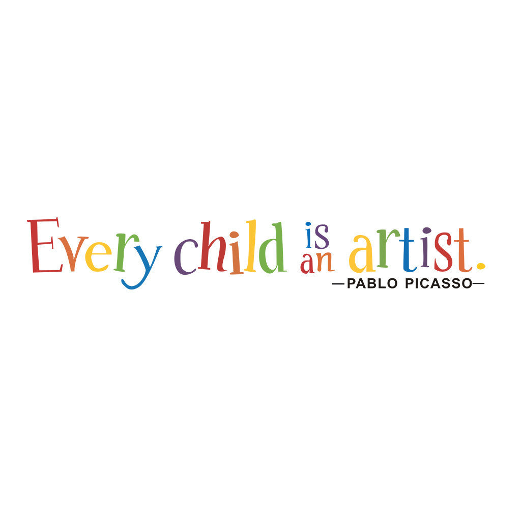 Multicolor Wall Sticker: Every Child is an Artist - get-accessories