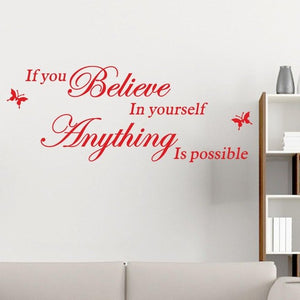 Wall Sticker: Believe In Yourself - get-accessories