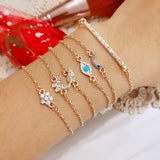 6pcs/set Minimalist Crystal Bracelet Gold-Color - get-accessories