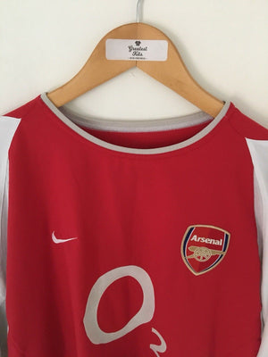 2002/04 Arsenal Home L/S Shirt (L) 8/10