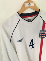 2001/03 England Home L/S Shirt Gerrard #4 (XL)