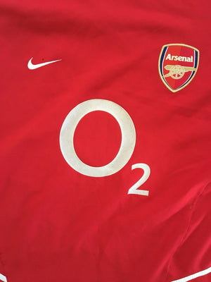 2002/04 Arsenal Home L/S Shirt (L)