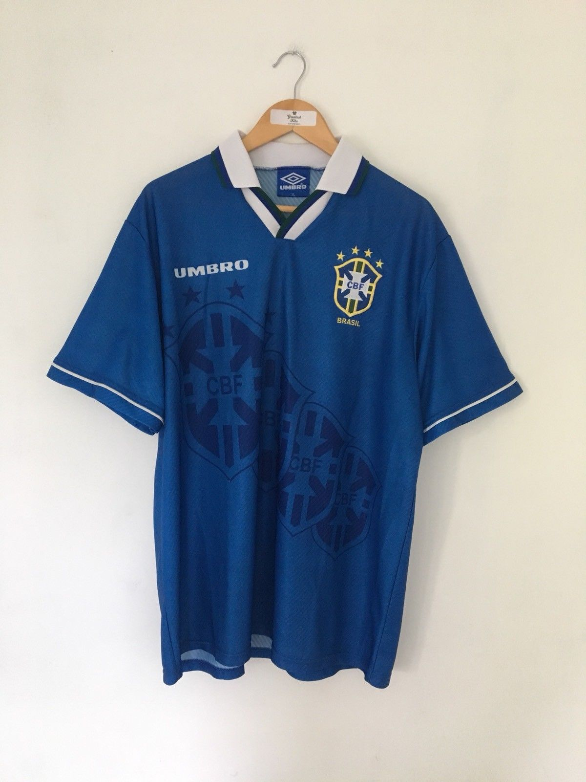 1994/97 Brazil Away Shirt (XL) 9/10