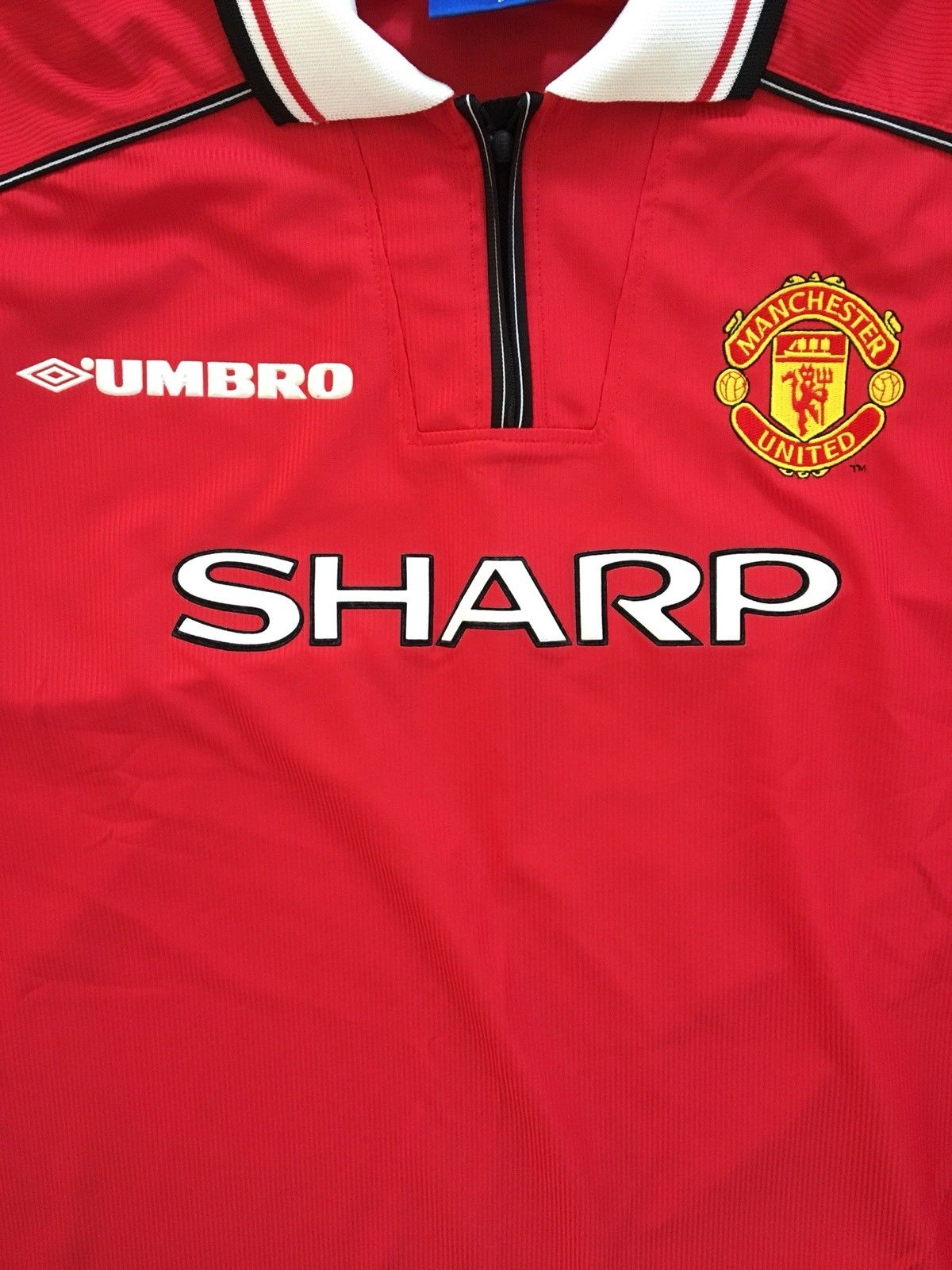 1998/00 Manchester United Home Shirt (L) 9.5/10