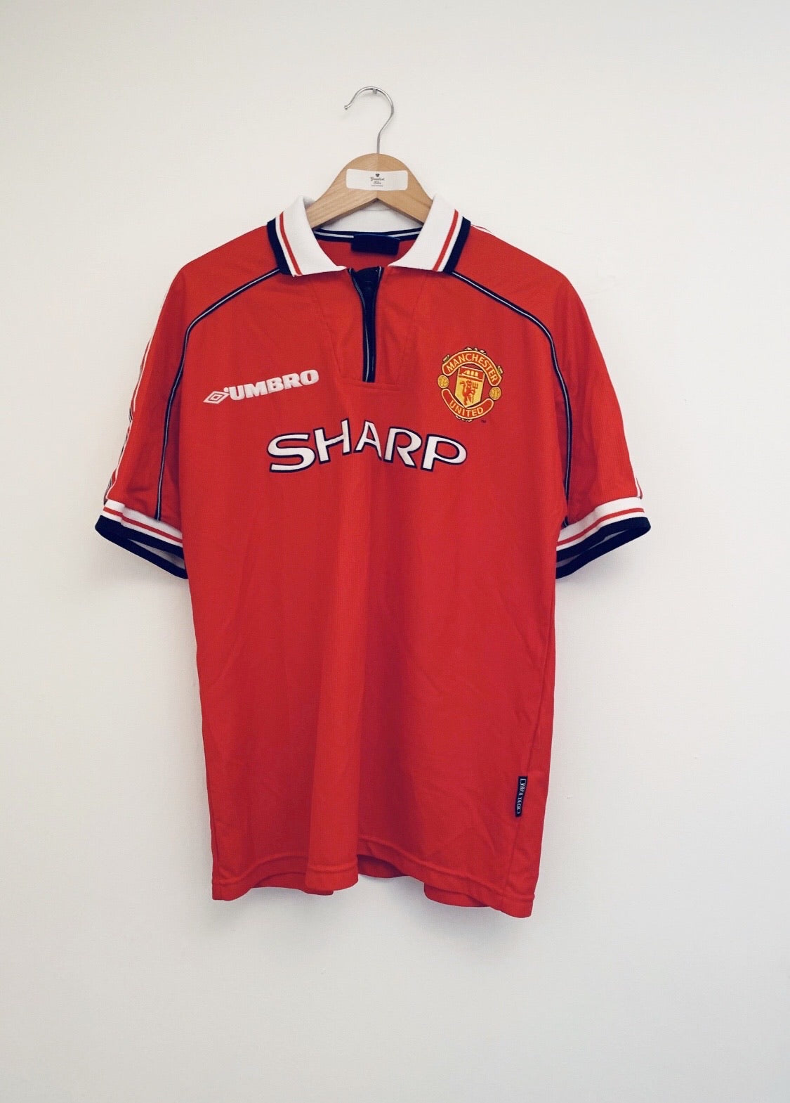 1998/00 Manchester United Home Shirt (L) 9/10