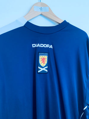 2005/06 Scotland Home L/S Shirt (XXL) 9/10