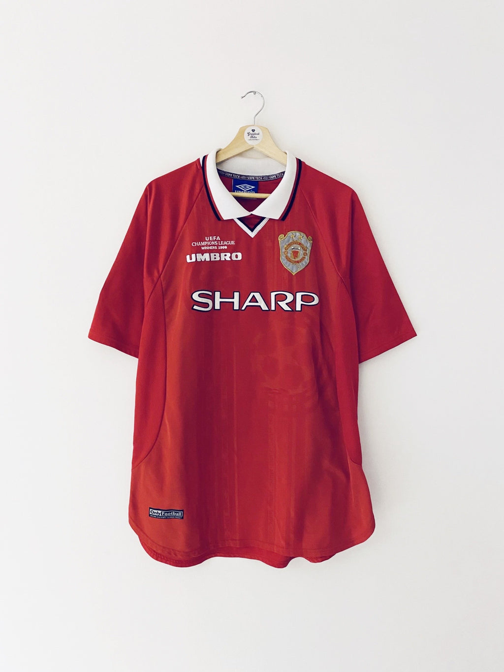 1999/00 Manchester United Home 'CL Winners' Shirt (XL) 9/10