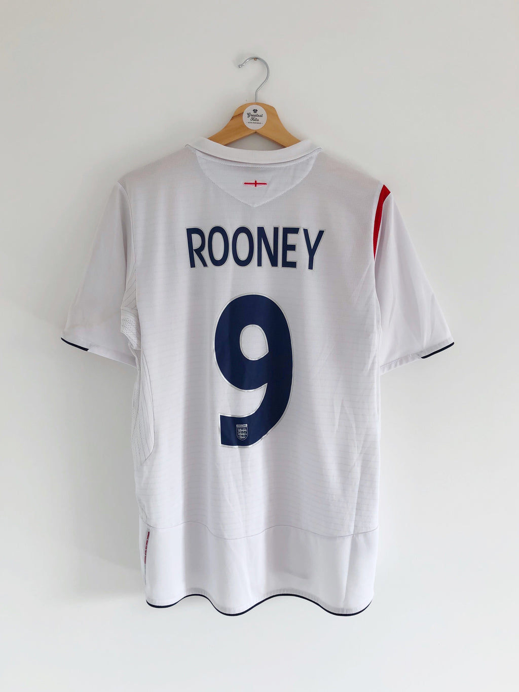 2005/07 England Home Shirt Rooney #9 (M) 9/10