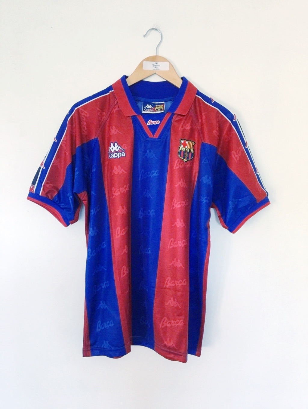 1995/97 Barcelona Home Shirt #4 (Guardiola) (L) 8.5/10