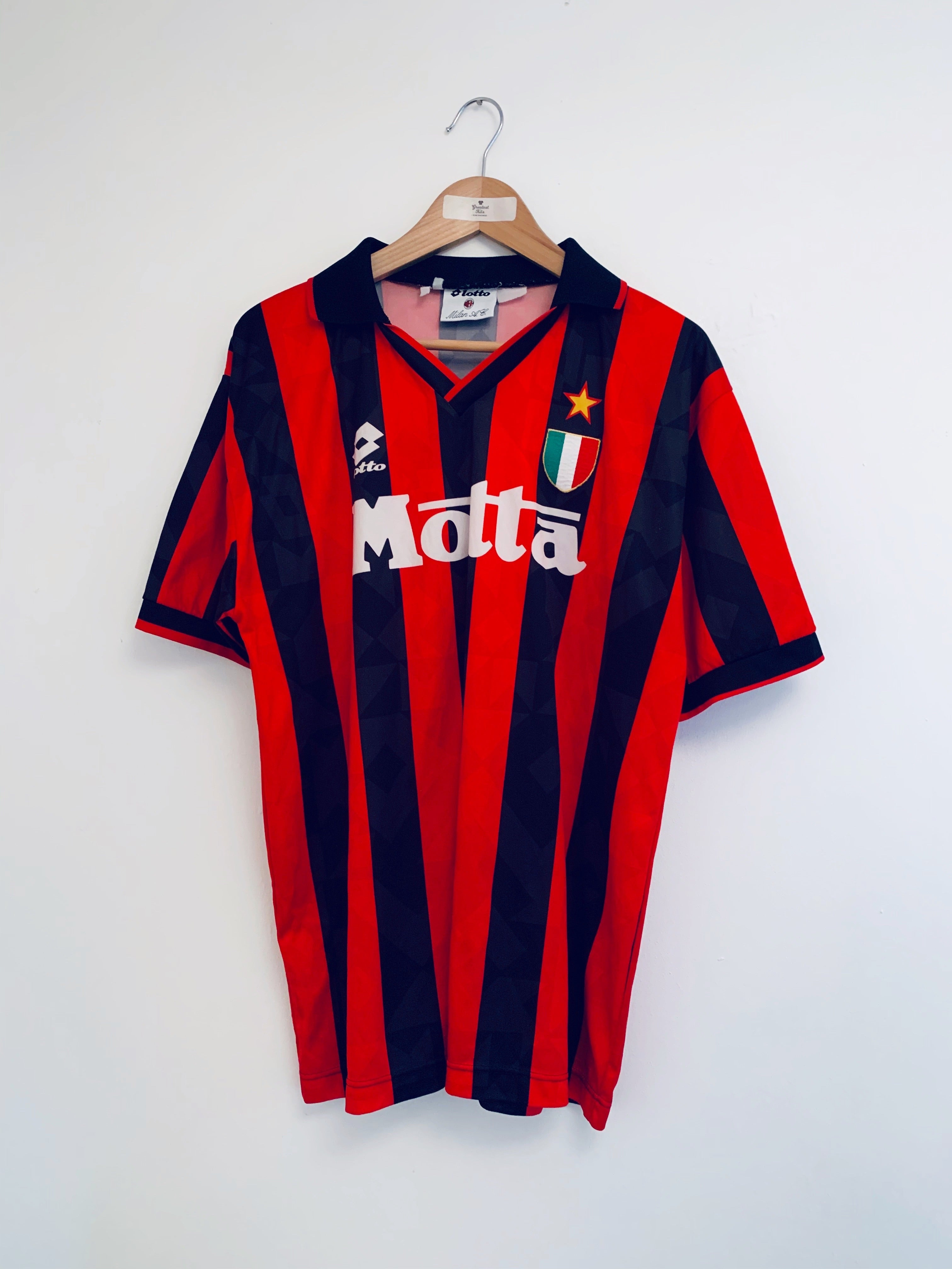 1993/94 AC Milan Home Shirt (L) 9/10