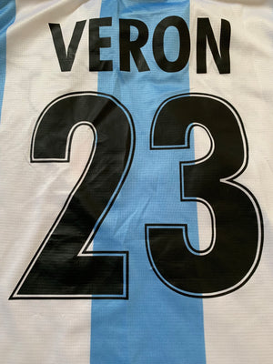 1999/00 Lazio Home European Shirt Veron #23 (S)