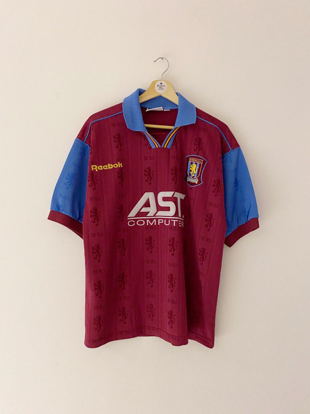 1995/97 Aston Villa Home Shirt (M) 9/10