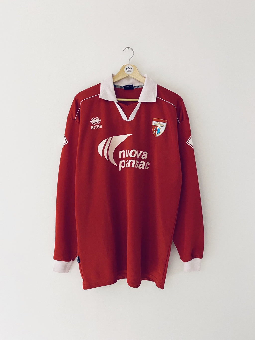 2004/05 Mantova Home L/S Shirt #16 (XXL) 8/10