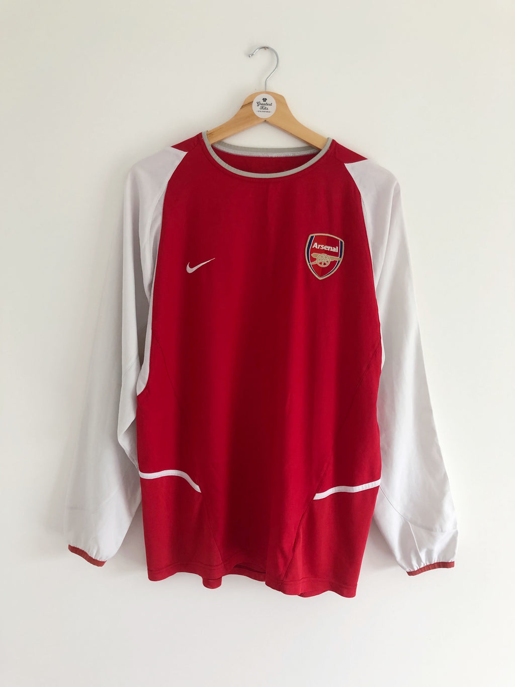 2002/04 Arsenal Home L/S Shirt (M) 9/10