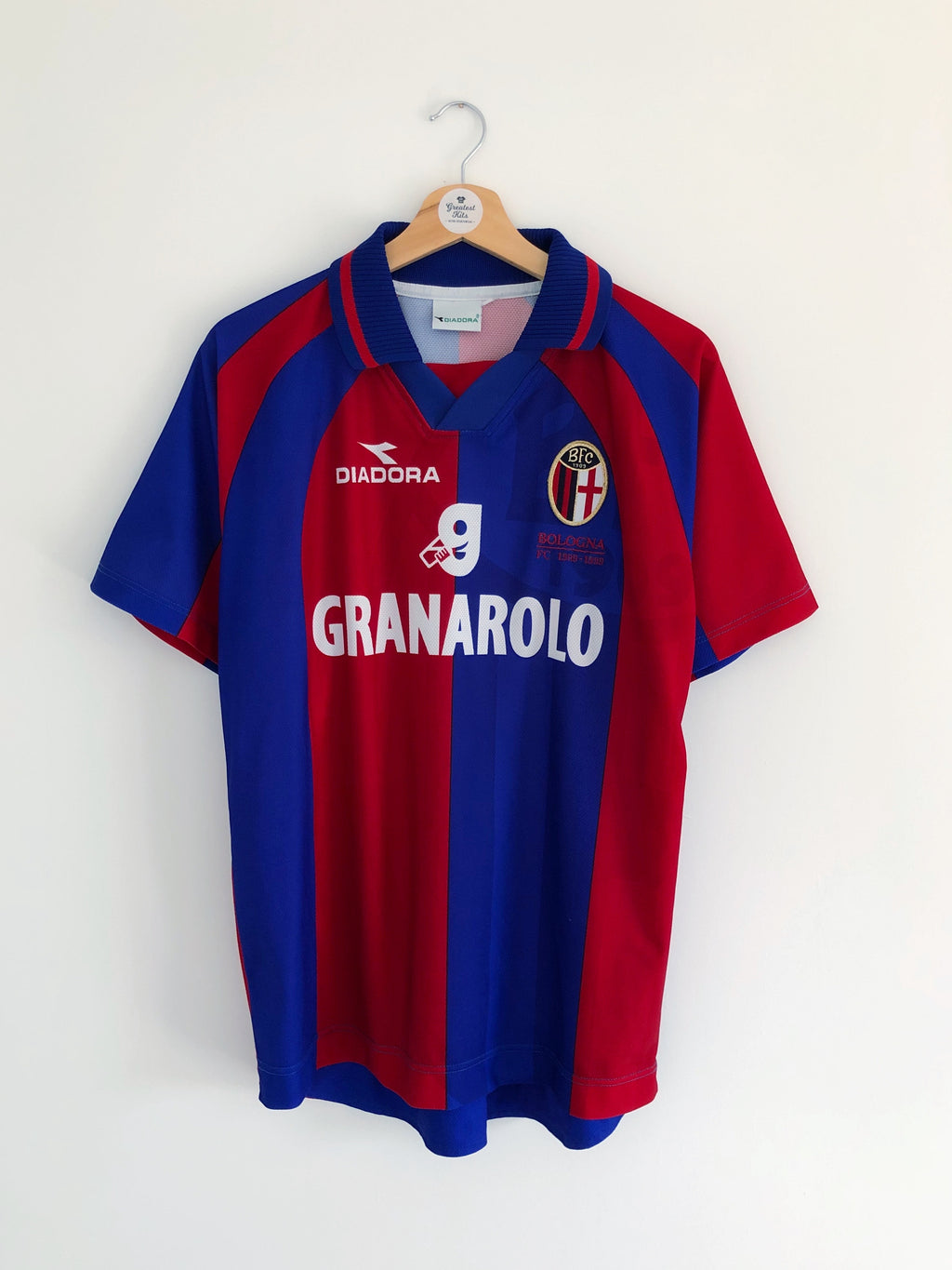 1999/00 Bologna Home '90 Years' Shirt (M) 9/10