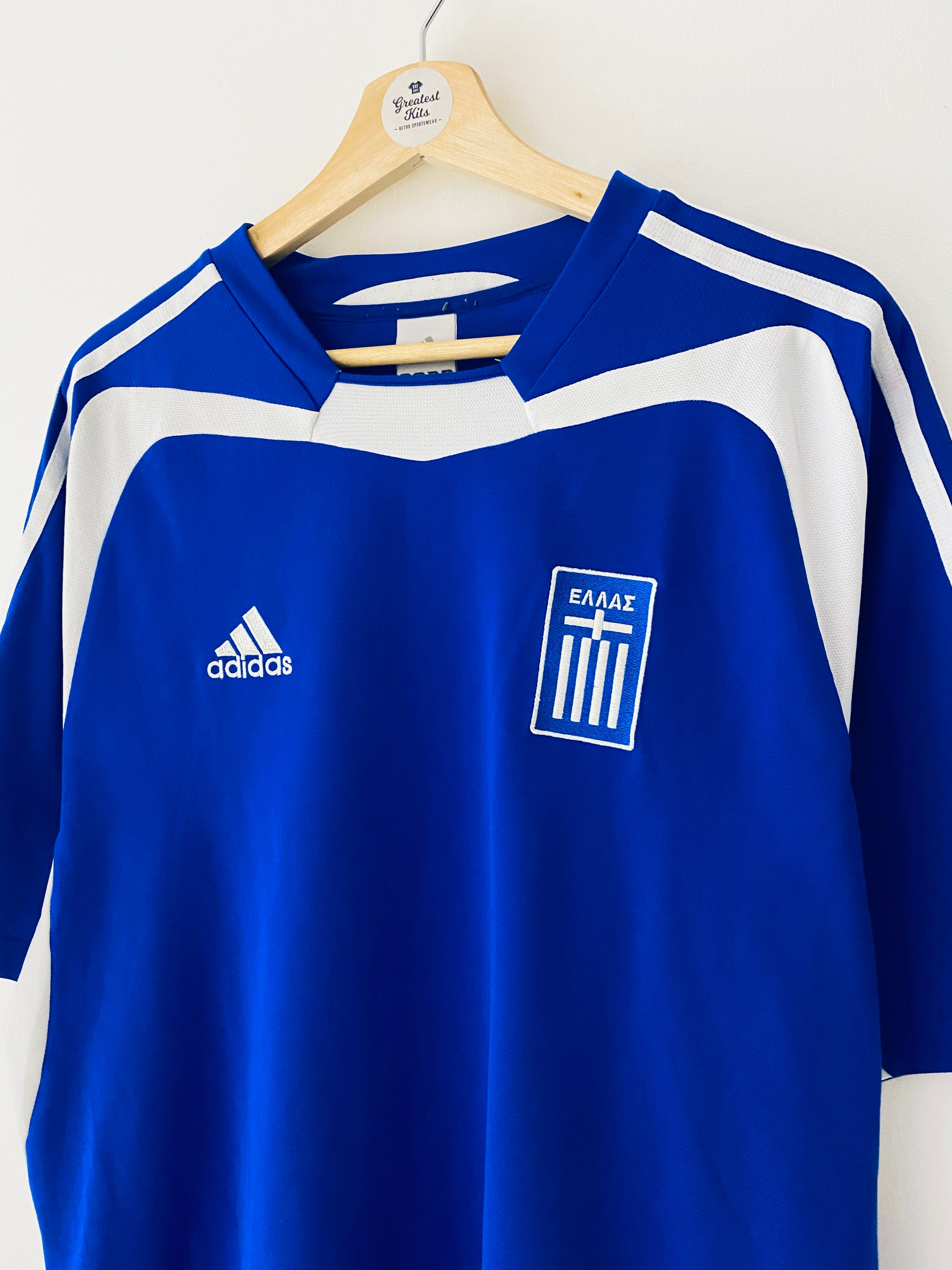 2004/06 Greece Home Shirt (L) 8/10