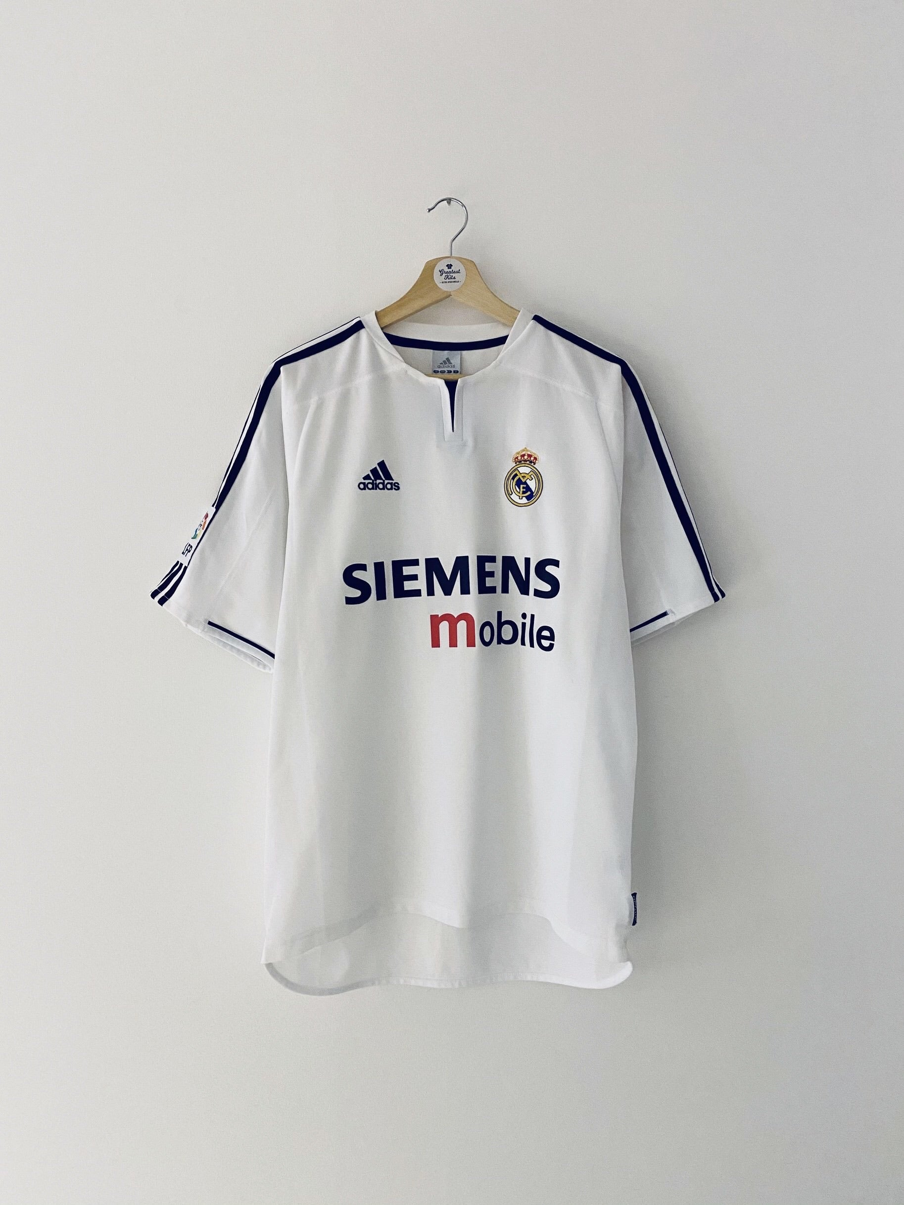 2003/04 Real Madrid Home Shirt (M) 9.5/10