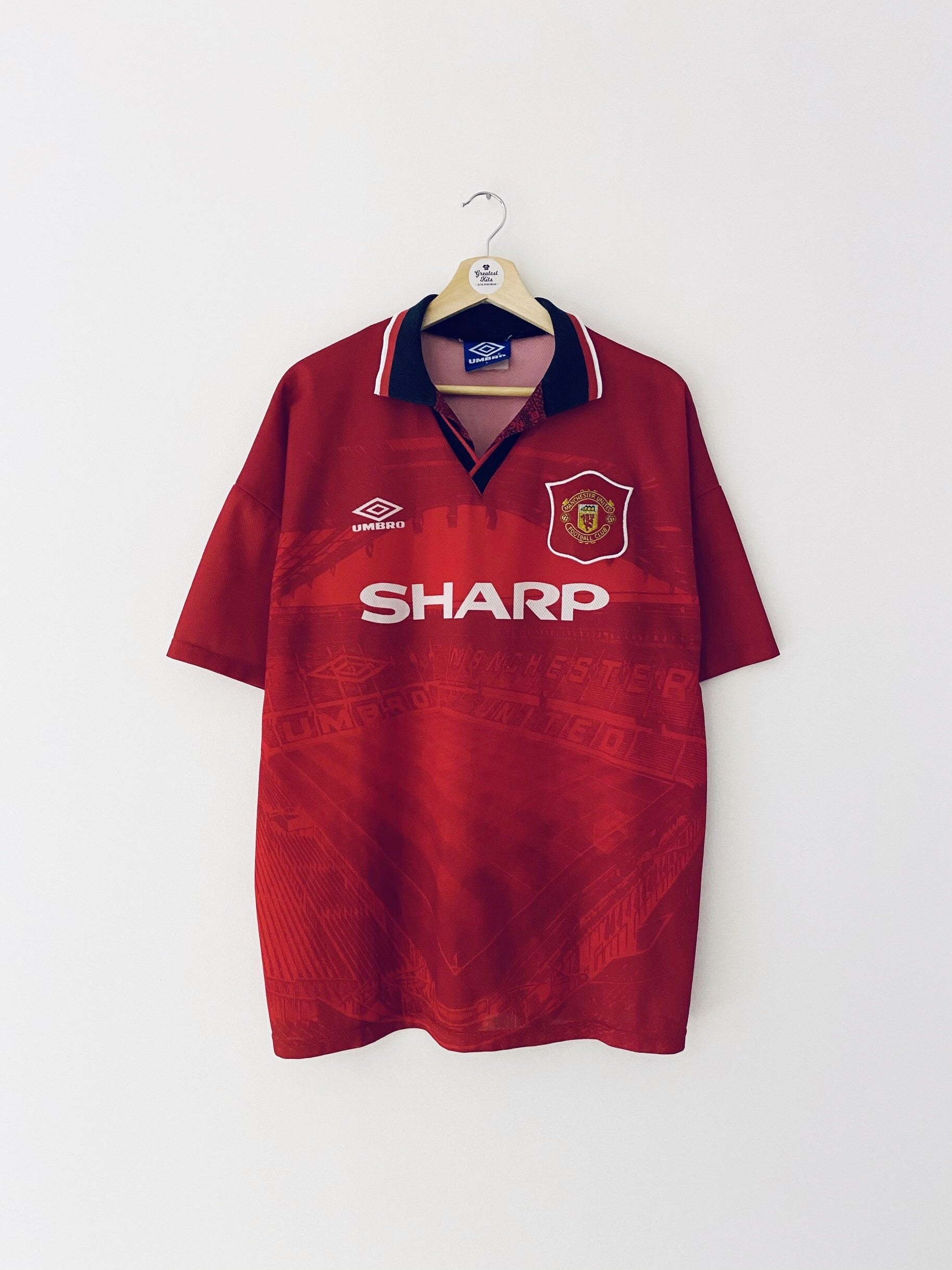 1994/96 Manchester United Home Shirt #11 (Giggs) (L) 8.5/10