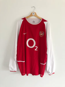 2002/04 Arsenal *Player Issue* Home L/S Shirt (XL) 9/10