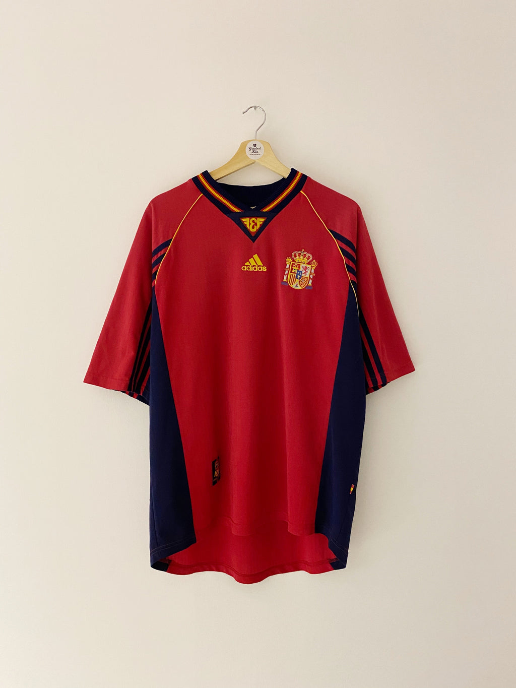 1998/99 Spain Home Shirt #4 (XL) 8.5/10