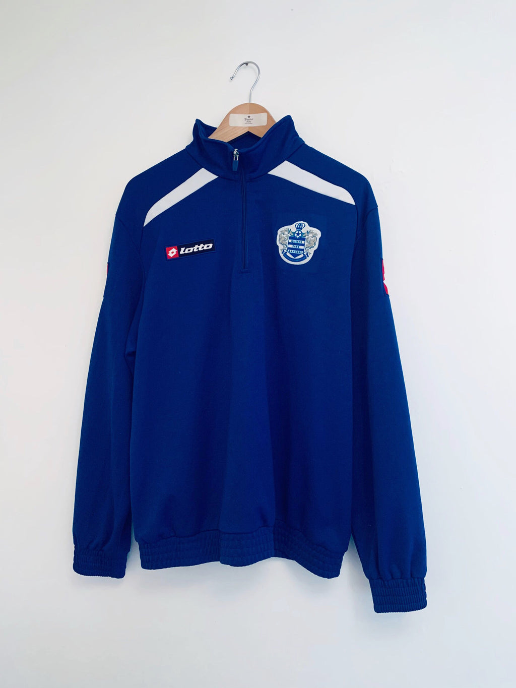 2008/09 QPR 1/4 Zip Training Top (L) 9/10