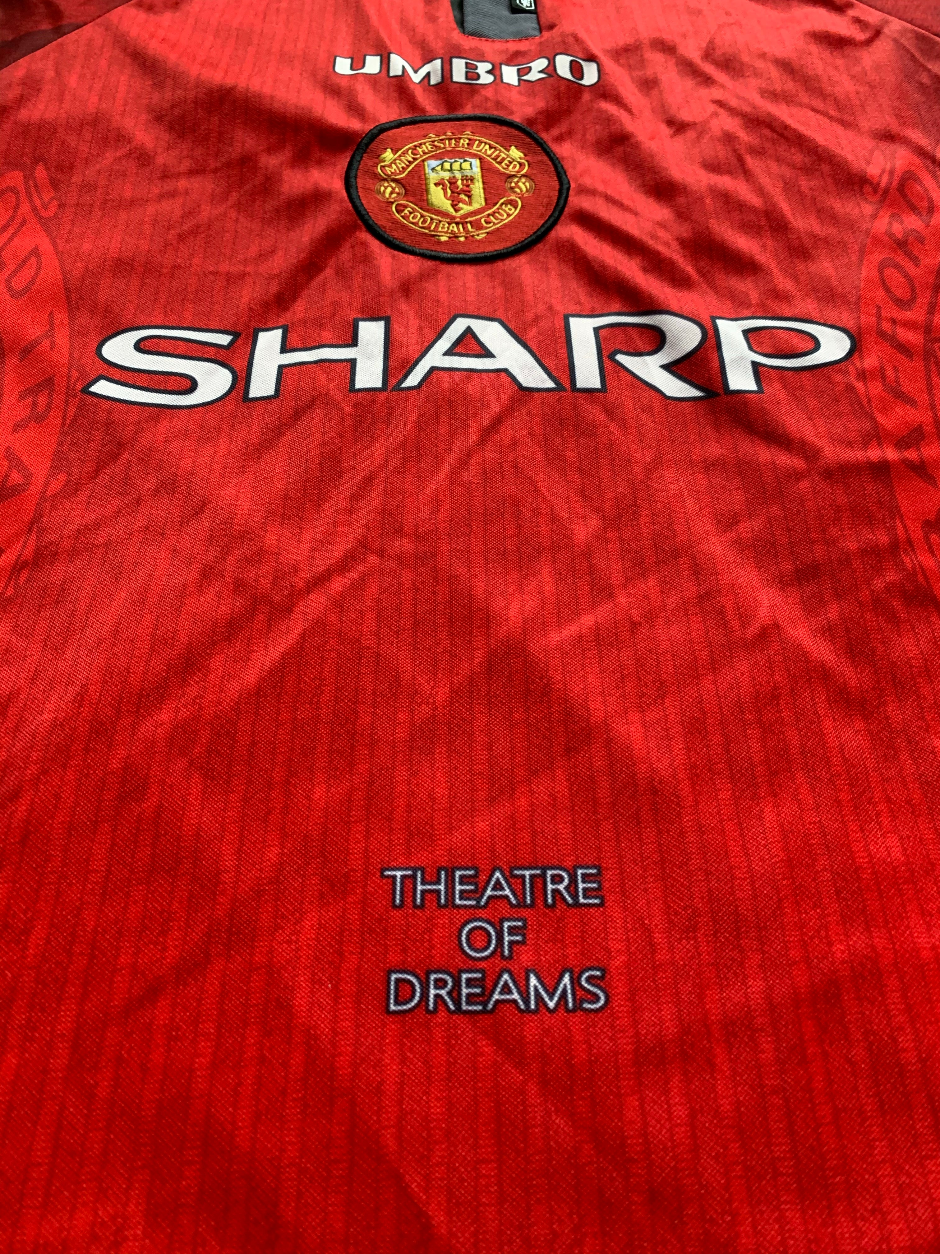 1996/98 Manchester United Home Shirt (M) 9.5/10