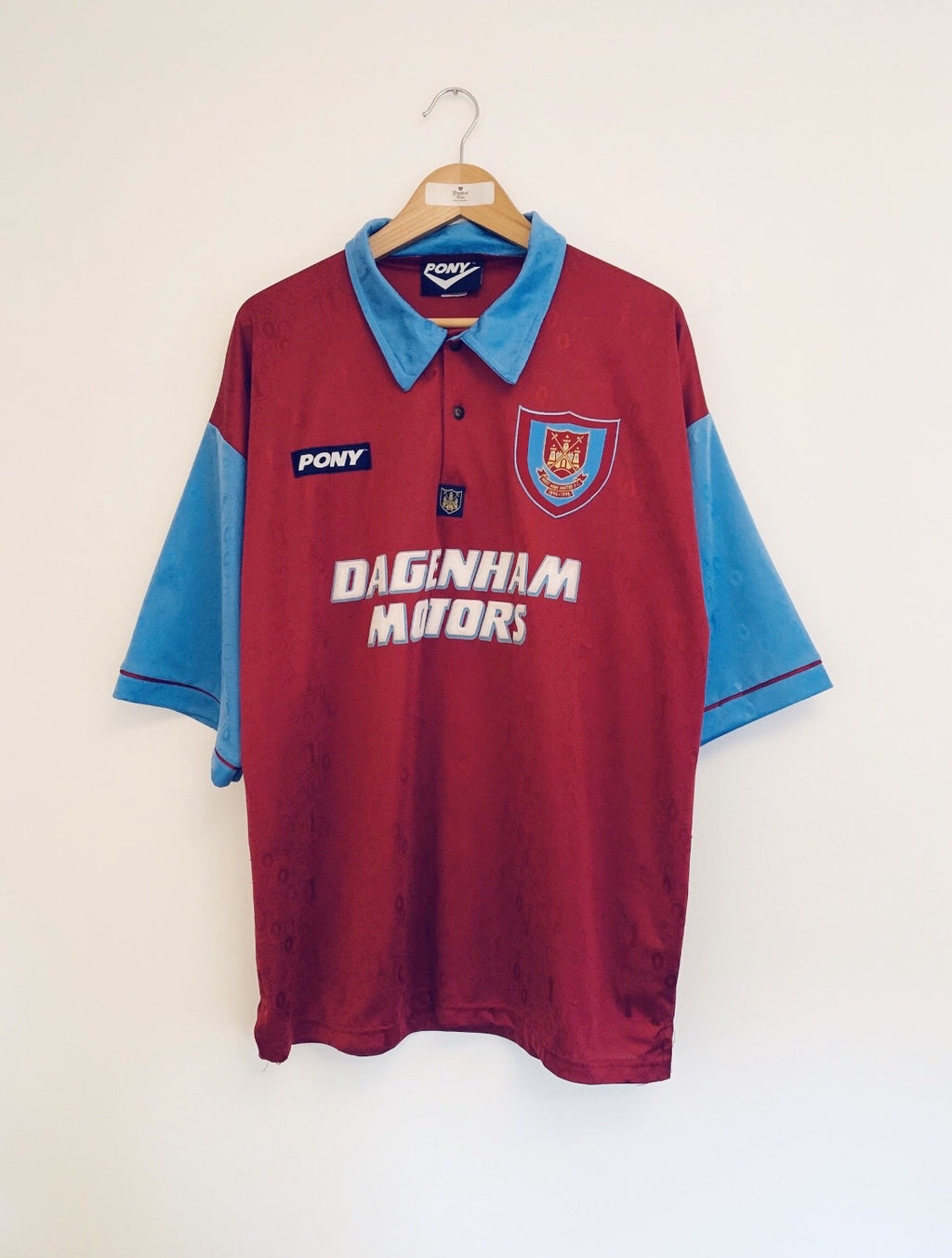 1995/97 West Ham Home Centenary Shirt (XL) 9/10