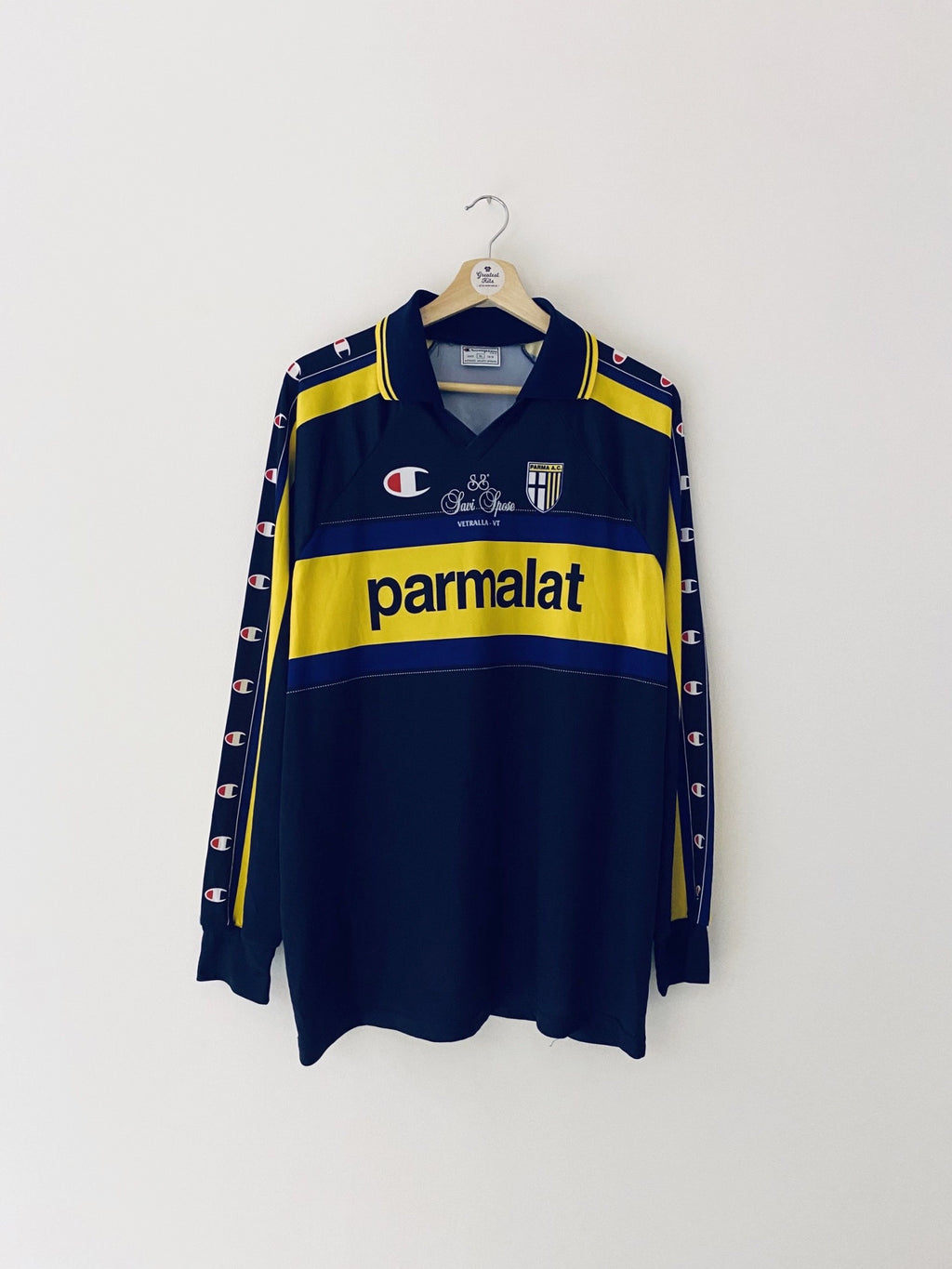 1999/00 Parma Basic Away L/S Shirt #14 (XL) 7.5/10