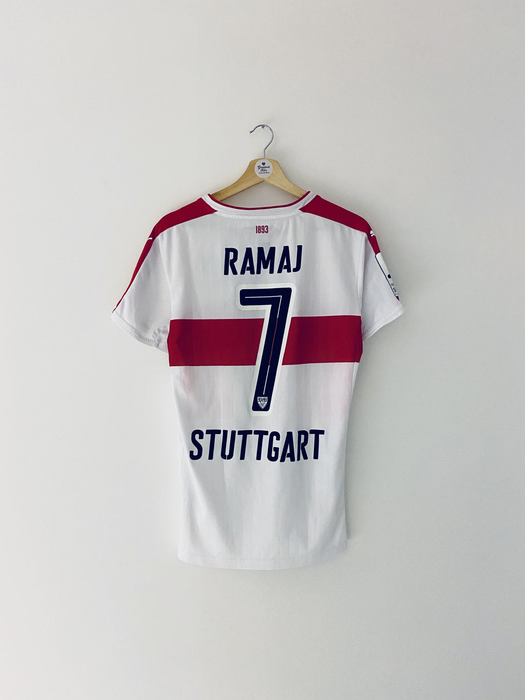 2016/17 Stuttgart II Match Issue Home Shirt Ramaj #7 (M) 9/10