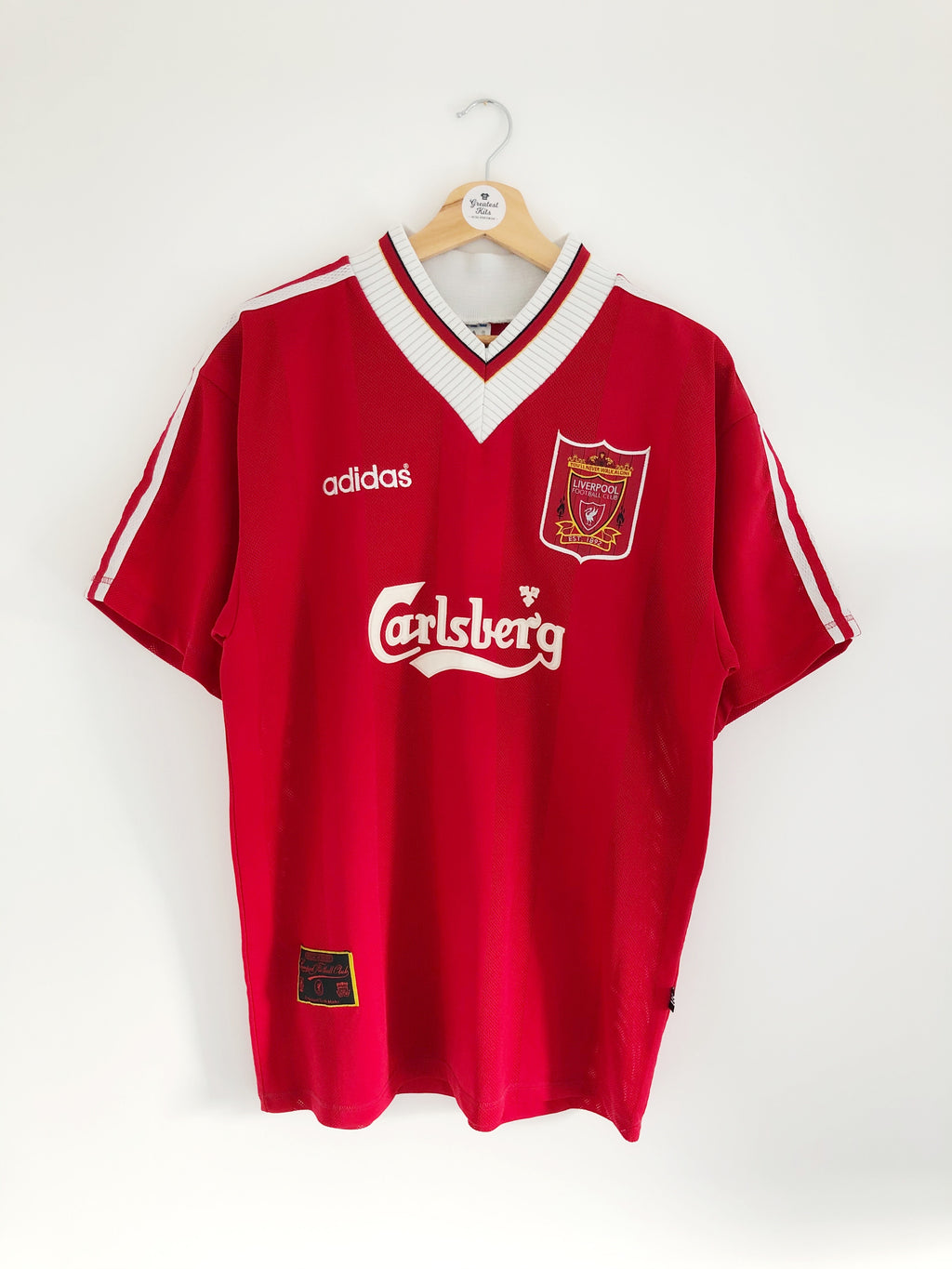 1995/96 Liverpool Home Shirt (L) 9.5/10