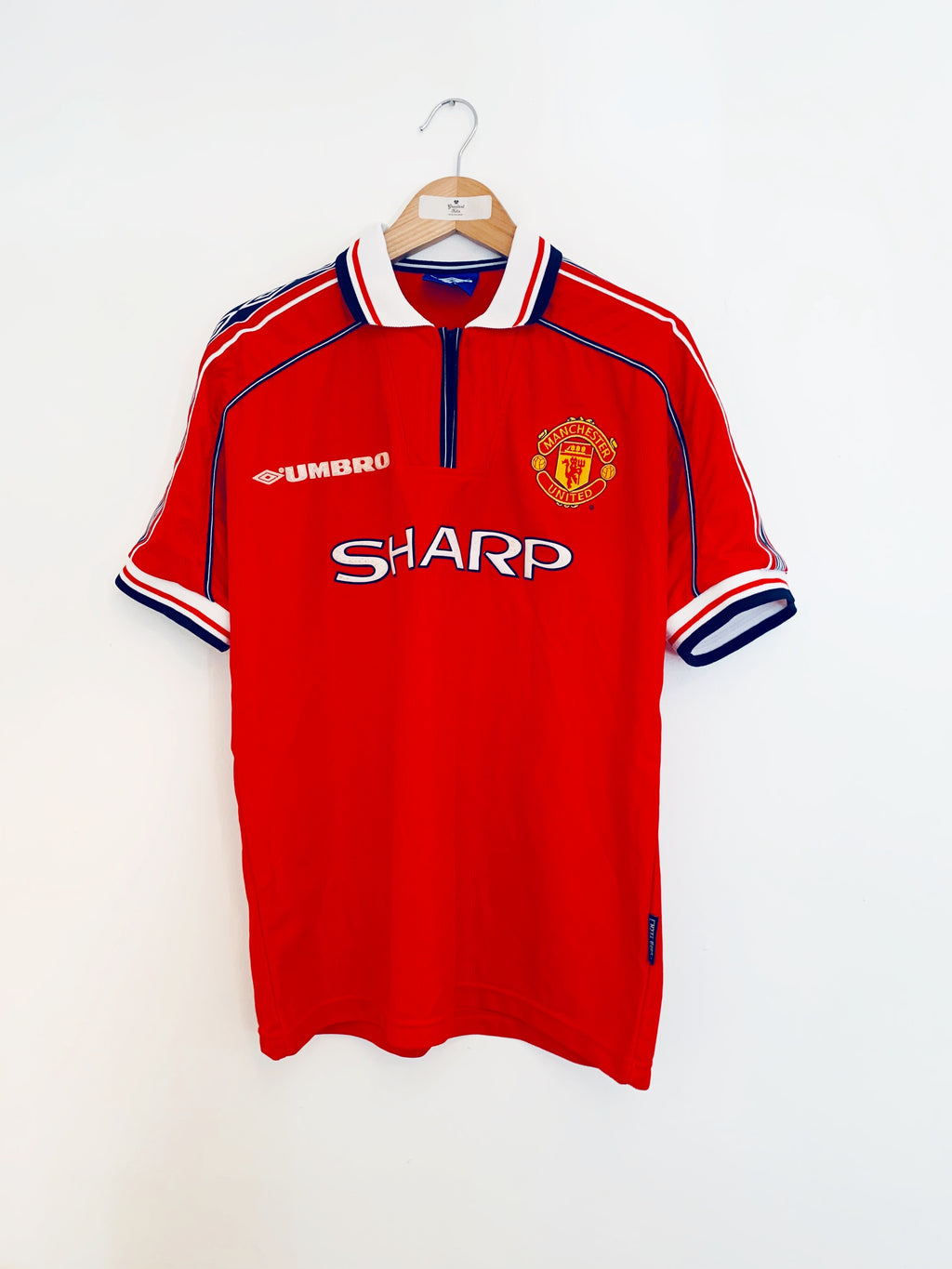 1998/00 Manchester United Home Shirt (M) 8.5/10