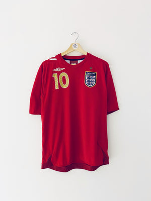 2006/08 England Away Shirt Owen #10 (L) 9/10