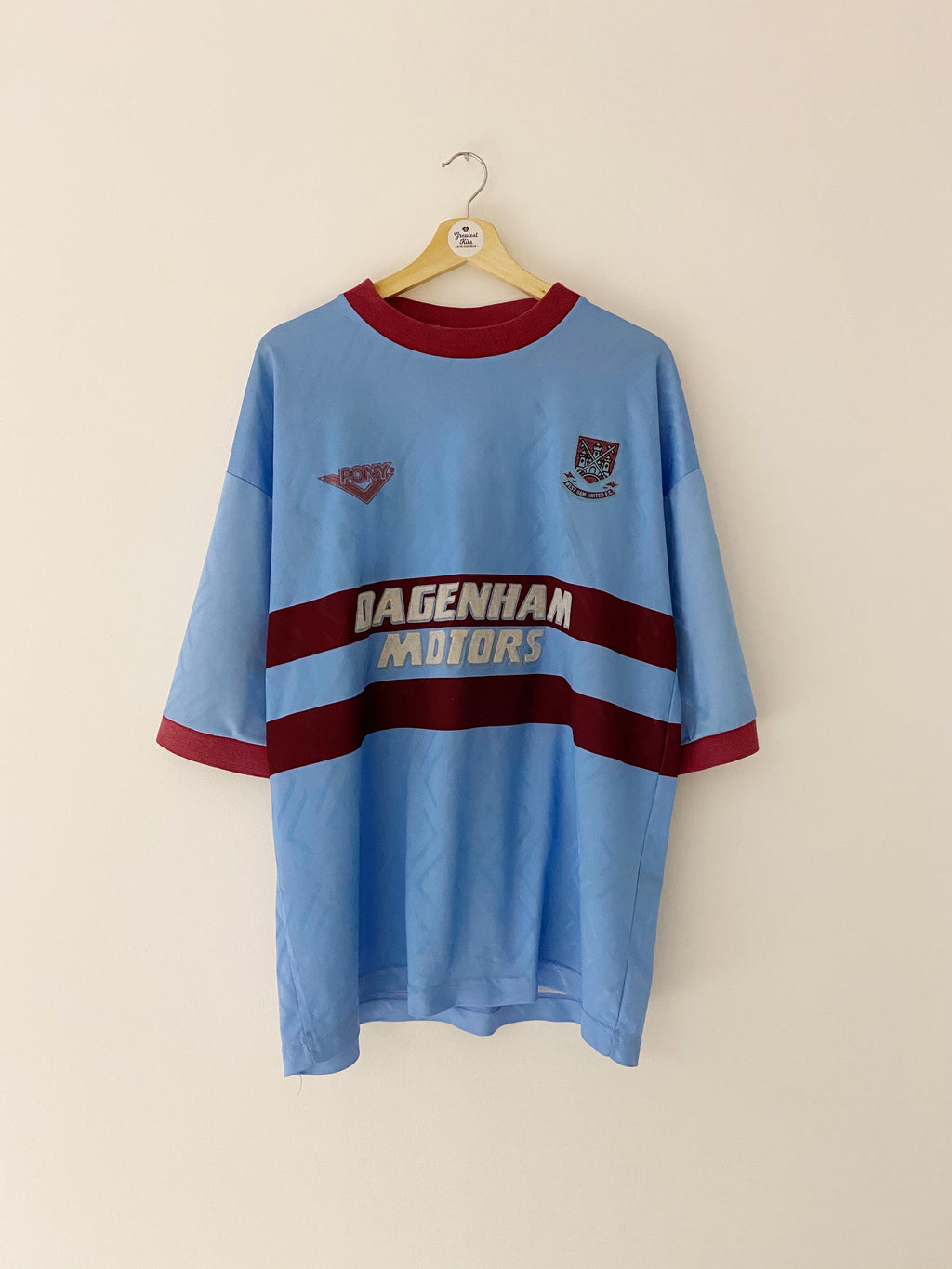 1993/95 West Ham Away Shirt (XL) 7.5/10