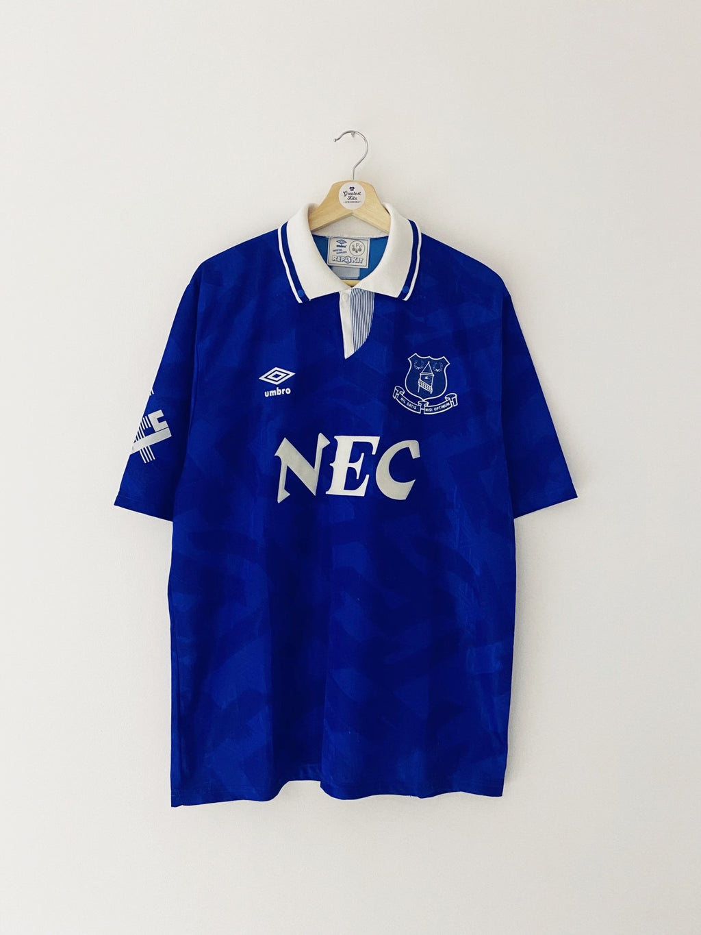 1991/93 Everton Home Shirt (XL) 8.5/10