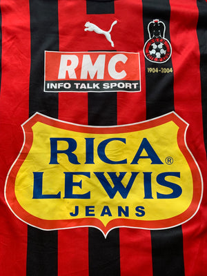 2004/05 Nice Home Centenary Shirt Grenet #5 (L) 7/10