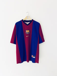 1998/00 Barcelona Basic Home Shirt (L) 9/10
