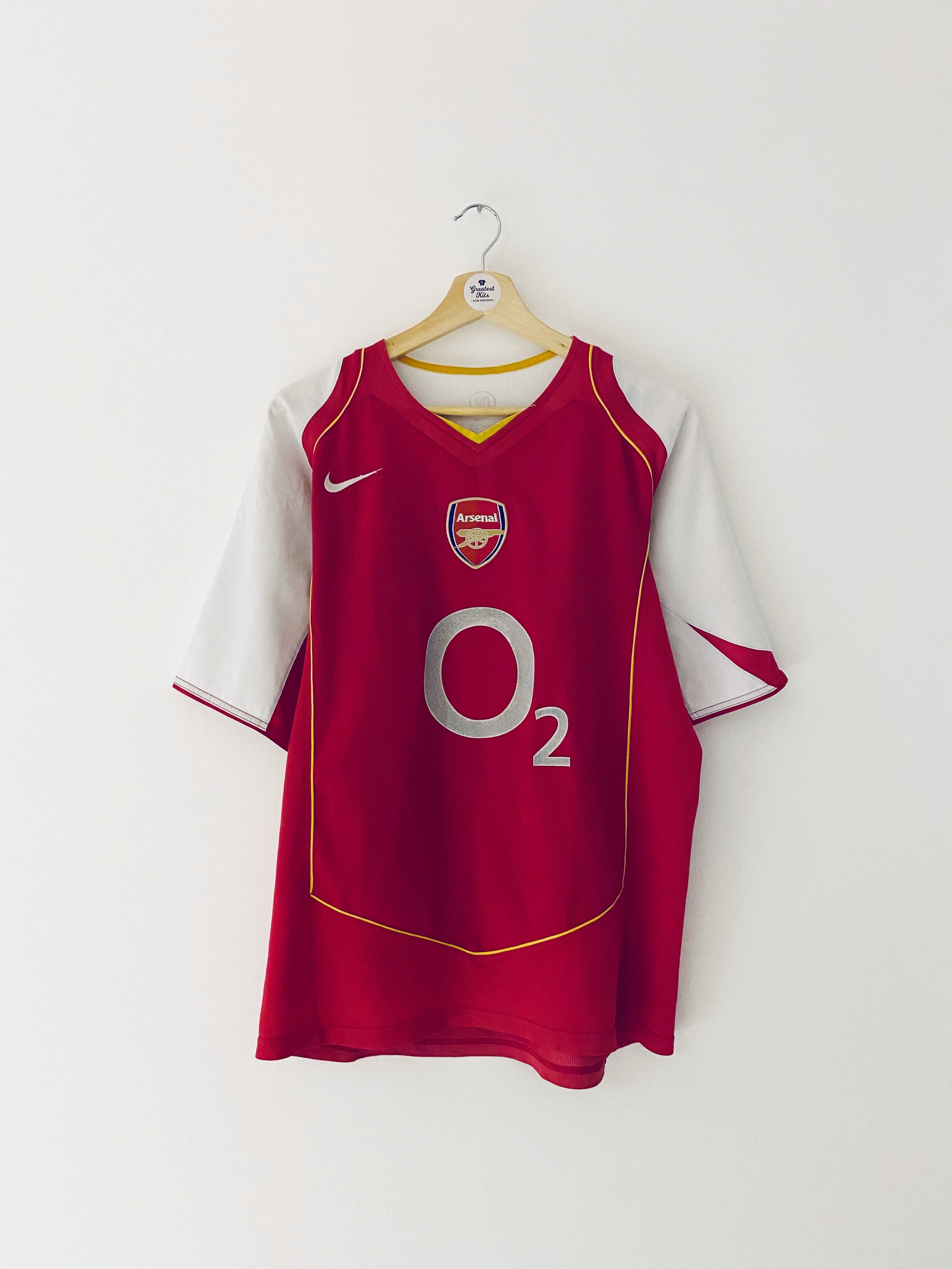 2004/05 Arsenal Home Shirt (L) 7.5/10