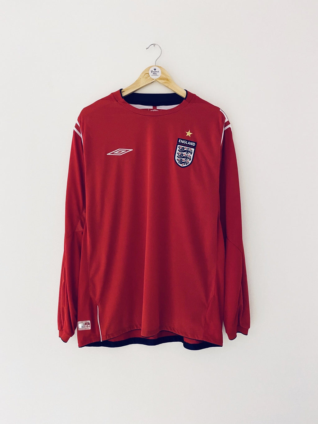2004/06 England Away L/S Shirt (XL) 9/10