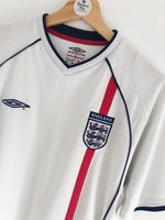 2001/03 England Home Shirt (L) 9/10
