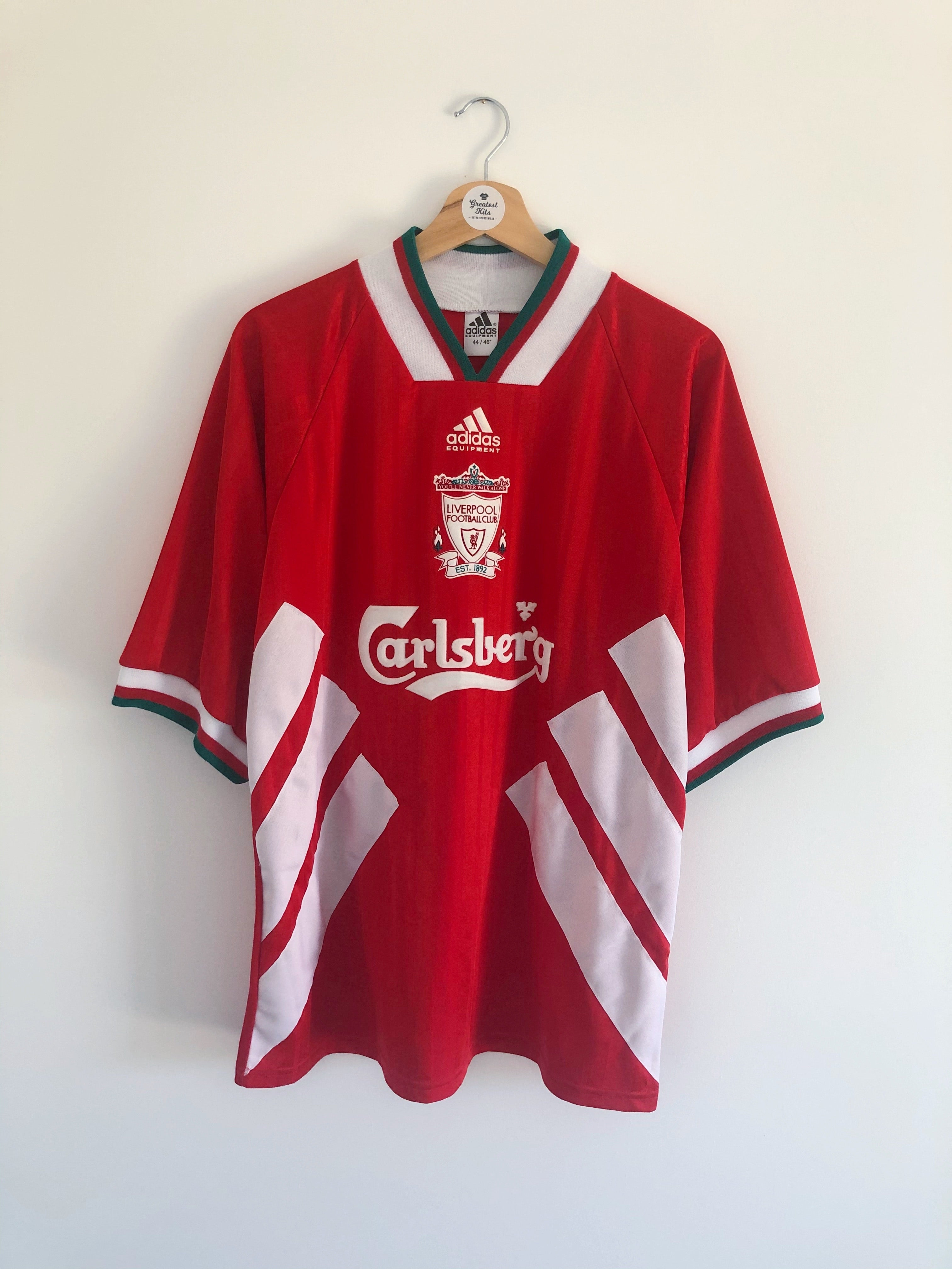 1993/95 Liverpool Home Shirt Rush #9 (L/XL) 9.5/10