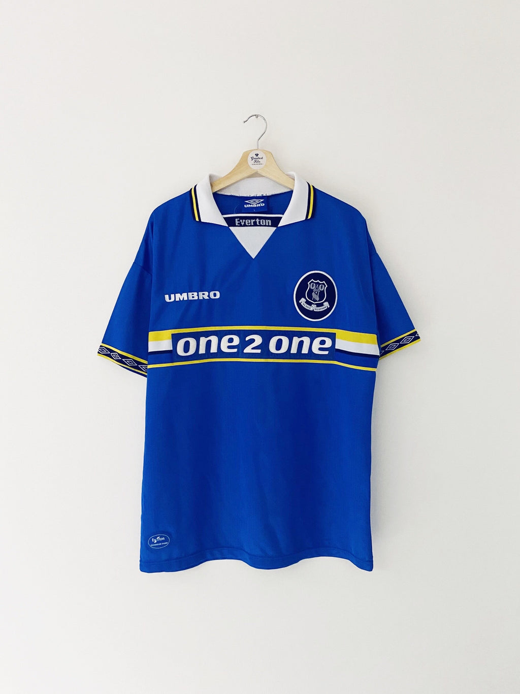 1997/99 Everton Home Shirt (L) 7.5/10