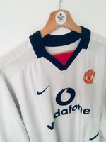 2002/03 Manchester United Away L/S Shirt (S)
